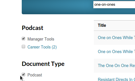 podcasts manager tools